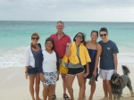 Ellen, Doug, Emma and Sarah with Lee and Jackson