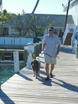 Randy and Leo on the dock at the Conch Inn and Marina in Marsh Harbour