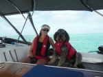 Lee and Leo on the way to Great Guana Cay