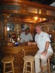 Randy at the bar at Farmers Cay with owner Roosevelt