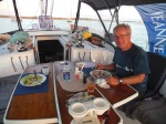 Dinner onboard at Cambridge Cay