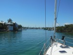 Entering the Hopetown harbour. Yeah!