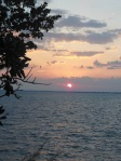 View of the sunset at the Firefly Restaurant just outside of Hopetown