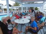 Happy Hour by the pool at the Hopetown Marina