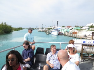 We take the ferry to Harbour Island from Spanish Wells for the day