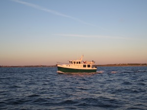 Emerald Lady passing us shortly after we exit South Bar Channel to start the ocean crossing