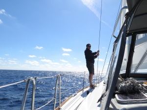 Checking the sails