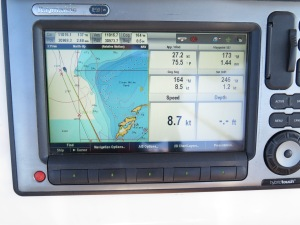 Wind picks up and we are flying at over 8 knots