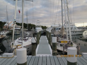 Silver Maple docked next to Miss Ellie