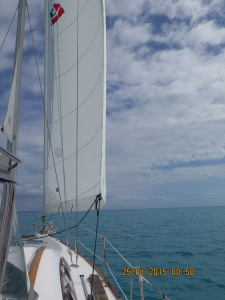 Quiet day sailing from Spanish Wells to Hatchet Bay