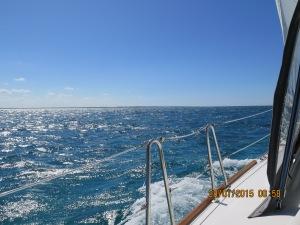 Windy day sailing from Hatchet Bay to Cape Eleuthra Marina
