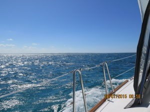 Windy day sailing from Hatchet Bay to Cape Eleuthra Marina