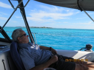 Relaxing at Norman's Cay