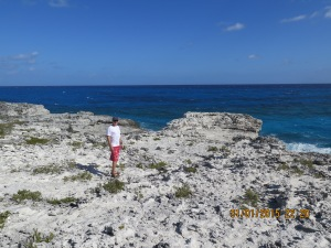 Hiking the Compass Cay cliffs