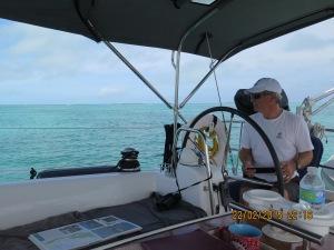 Captain navigating to Sea Spray Marina