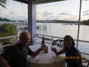 Lovely dinner at the Green Turtle Club restaurant -- the lobster risotto is amazing!