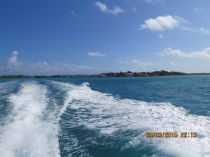 Looking back at New Plymouth on Green Turtle Cay