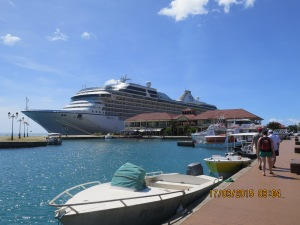 Marina docked in Raiatea
