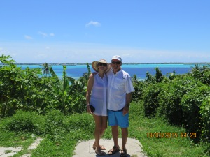 Lee and Randy in Bora Bora