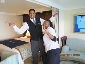 Sergia, our housekeeper with, Xavier, our butler -- great people