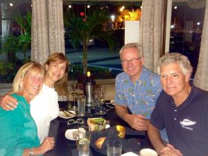 Dinner with Debra and John (Mandalay) in Stewart, Florida.