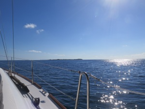 Heading to the Whale Cay passage.