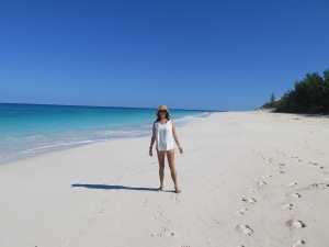 Lee's favourite beach in the Abaco Islands.