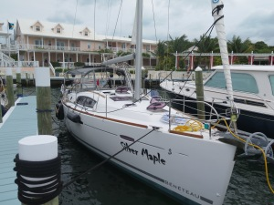 Silver Maple docked at the beautiful Hopetown Inn and Marina.