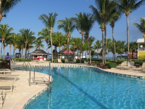 The beautiful Old Bahama Bay Resort at West End.