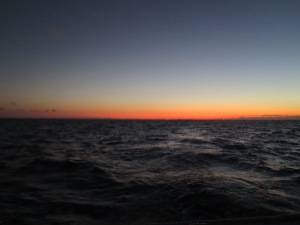 Early morning start as we make the crossing from Florida to the Bahamas.